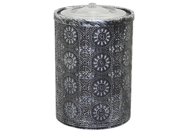 Medium Black Distressed Metal AquaFlame Fountain | Patio Essentials