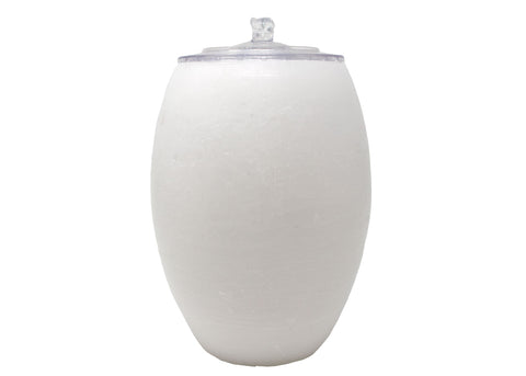 Vase-Shaped White Wax AquaFlame Fountain | Patio Essentials