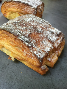 Caramelised apple and almond bear claw