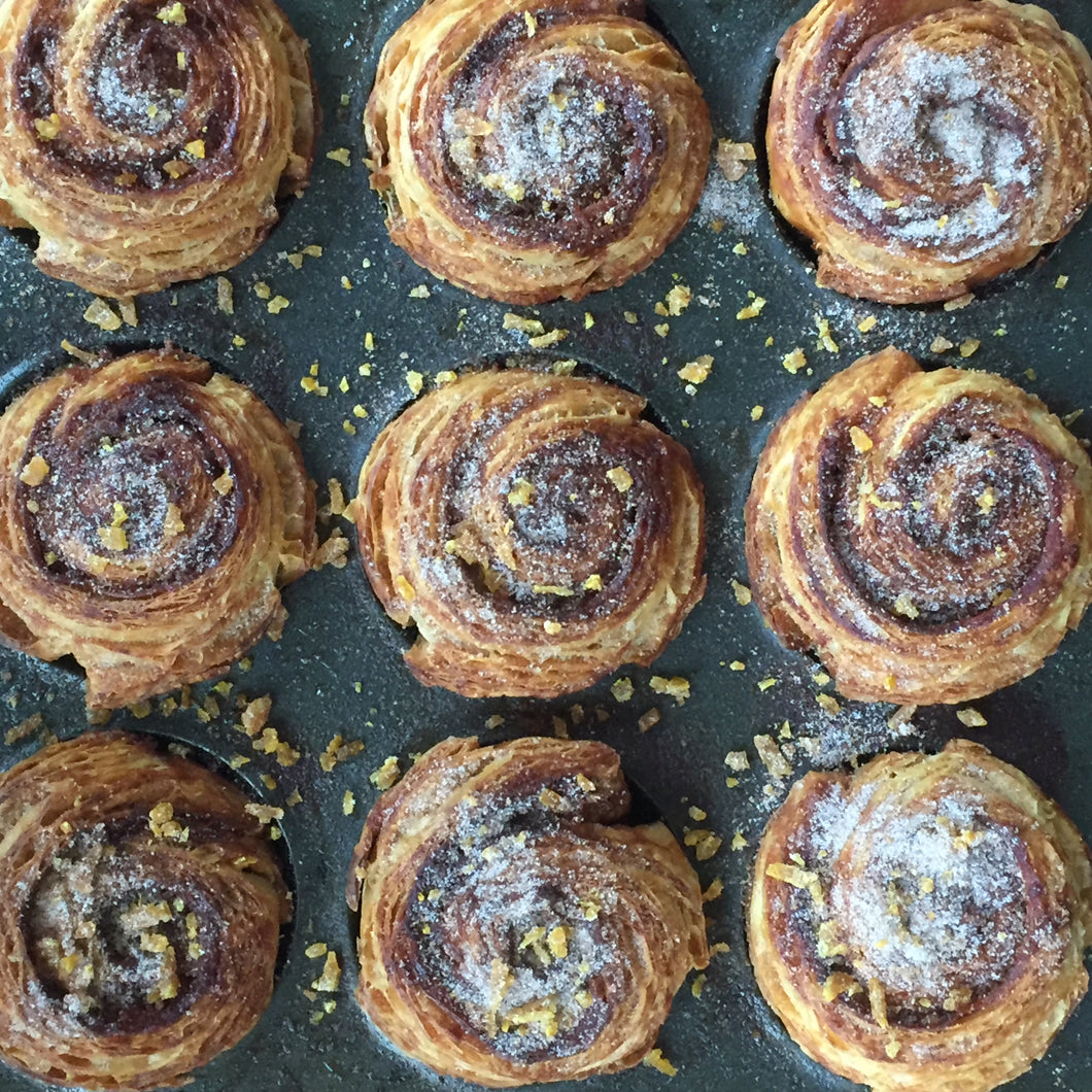 Orange and cardamom morning buns (Tue)