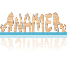 Load image into Gallery viewer, Wooden Bedroom Name Nursery Wall Signs