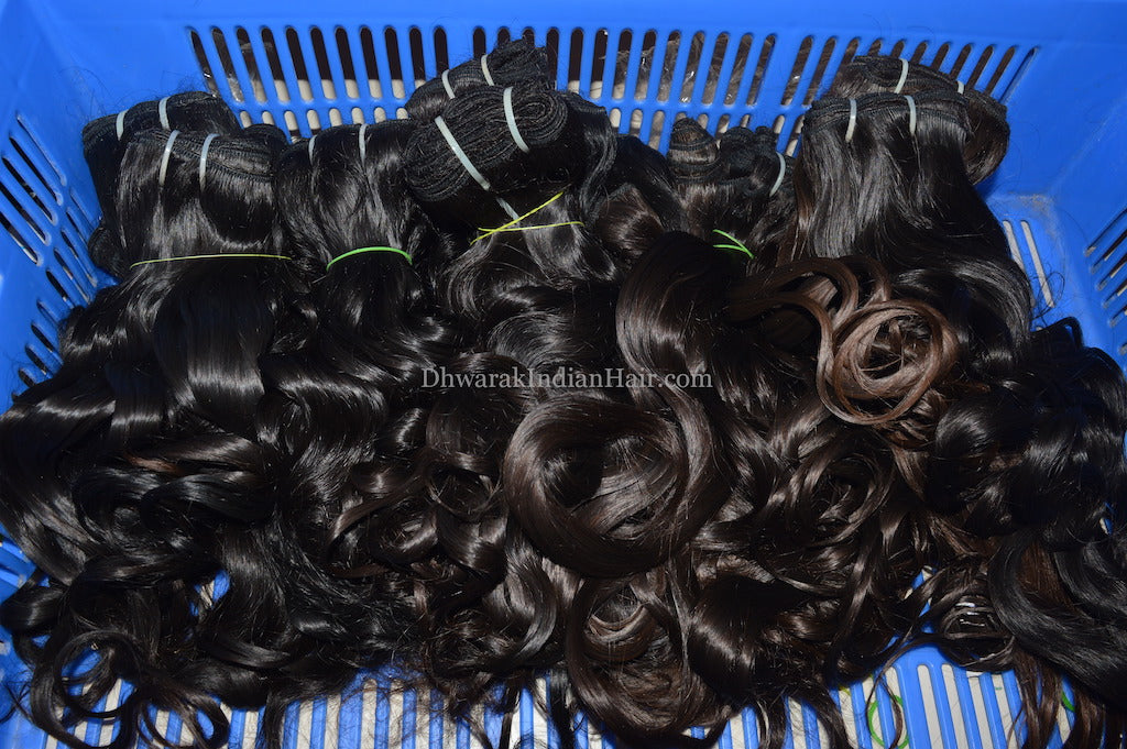 DHWARAK INDIAN HAIR Remy Virgin Human Hair Extensions Raw Indian Hair
