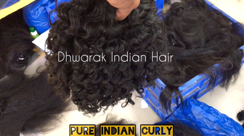 PURE Indian Curly from Dhwarak Hair Manufactures Wholesale India