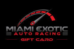 Miami Exotic Auto Racing Gift Card
