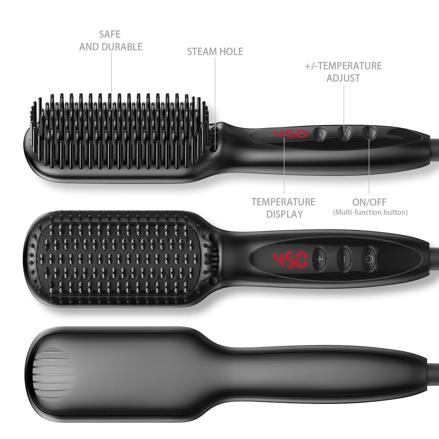 2-in-1 Ionic Hair Straightener Comb For Men&Women--50% OFF and Free shipping