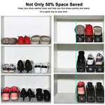 (Factory Outlet 50% OFF Today)Double Deck Shoe Rack - A Space Saving Storage Solution!
