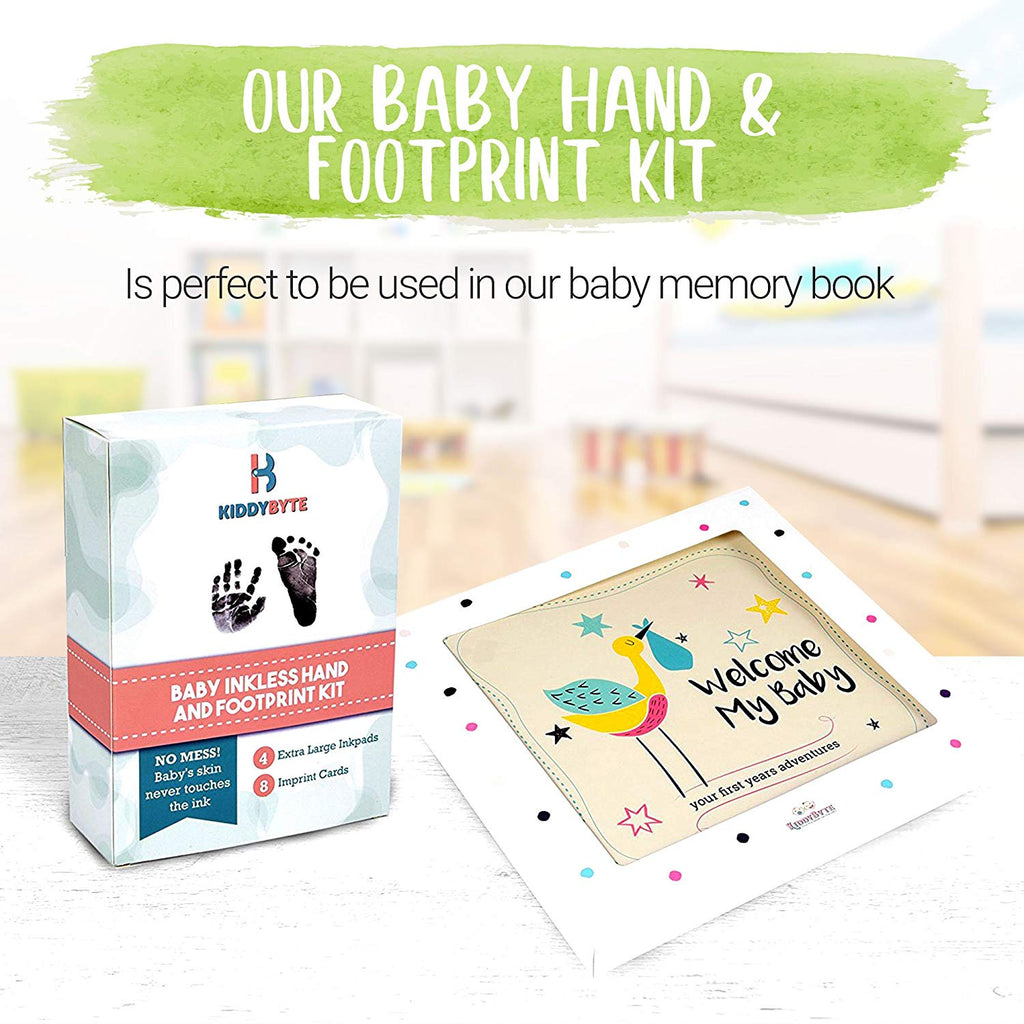 BABY FOOT IMPRINT SET--Record your baby's growth