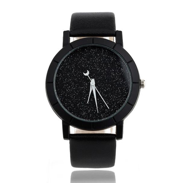 Best Cheap Price Star Minimalist Fashion Watches For Lovers Leather Strap Lady Hours Watch 2018 wholesales