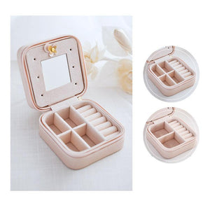 (Hot selling 50,00 items )[50% OFF] - Small Faux Leather Travel Jewelry Box