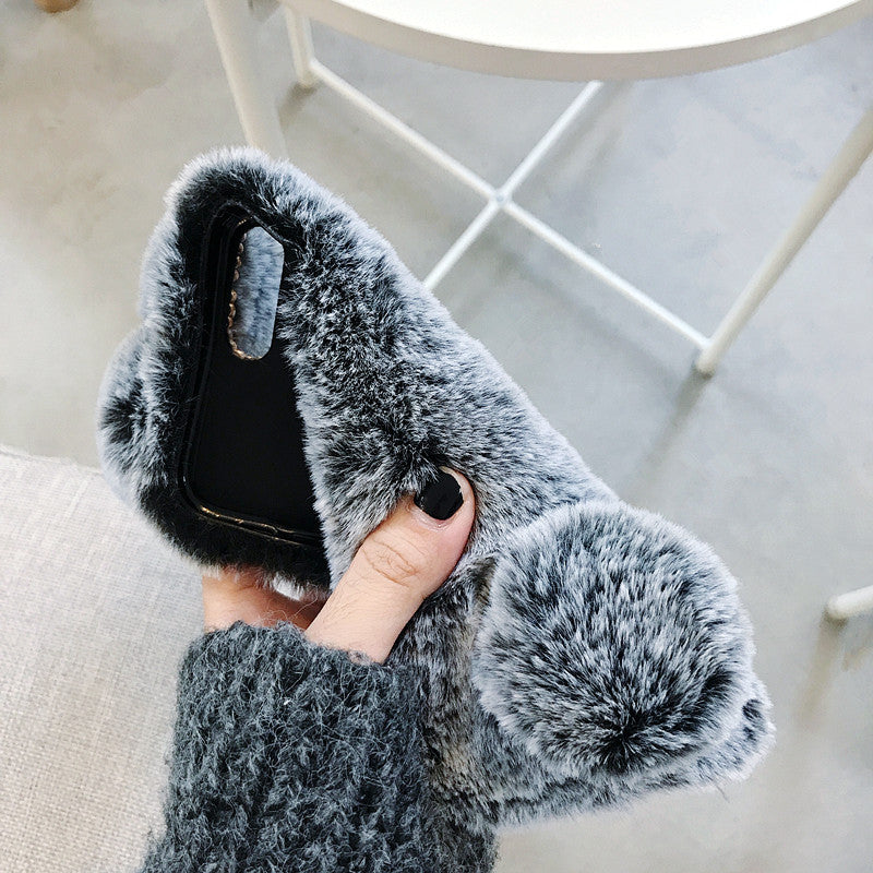 2019 New Fashion Fluffy Bunny iPhone Case