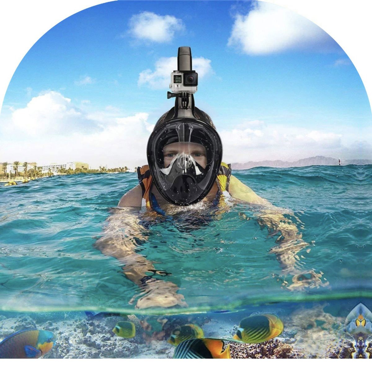 Full Face Snorkel Mask-Free Shipping