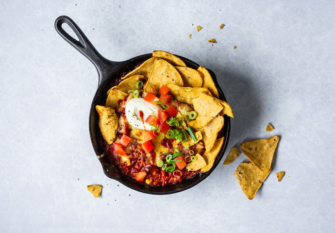 Cheesy Chilli Bean Nachos