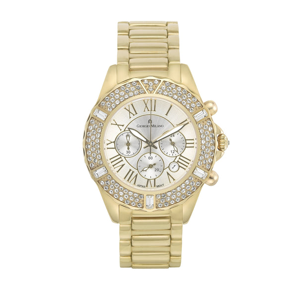 Giorgio Milano Gold Steel Ladies Chrono Watch - 738SG02