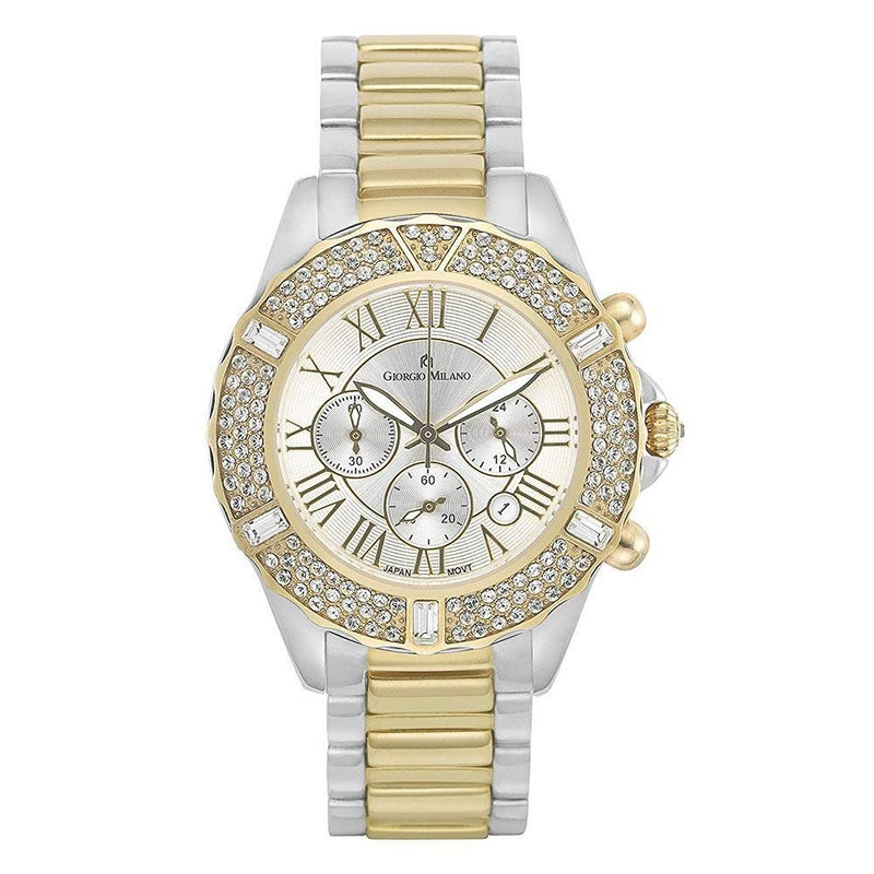 Giorgio Milano Two-Tone Steel Ladies Chrono Watch - 738STG02