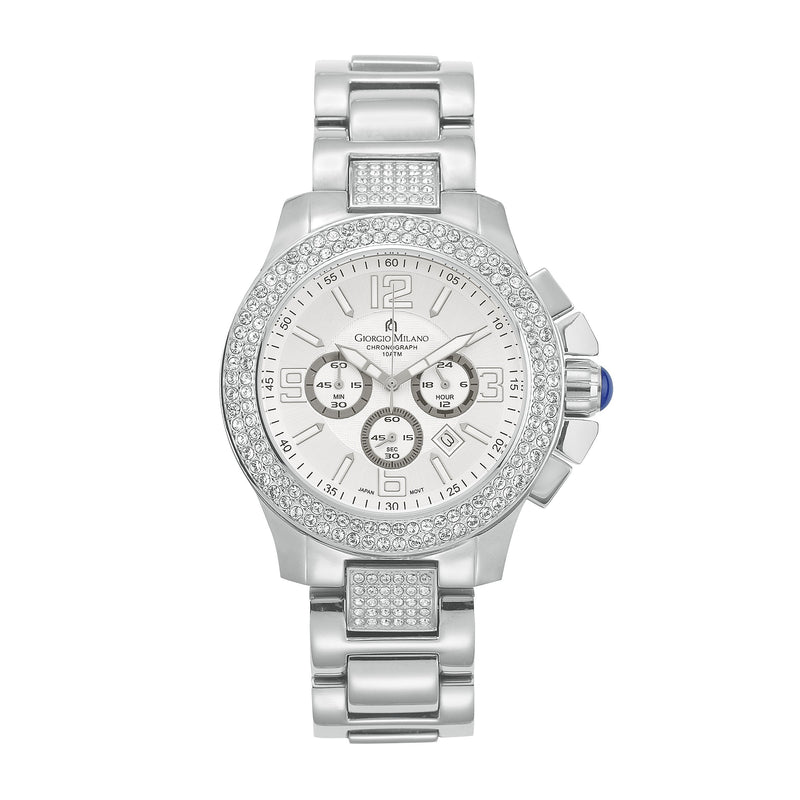 Giorgio Milano Silver Steel Men's Chrono Watch - 839ST02
