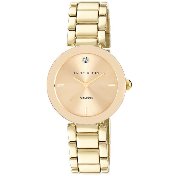 Anne Klein Diamond Gold Bracelet Ladies Watch - AK1362CHGB