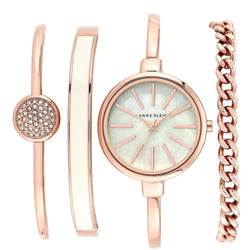 Anne Klein Rose Gold Bracelet Set Ladies Watch - AK1470RGST