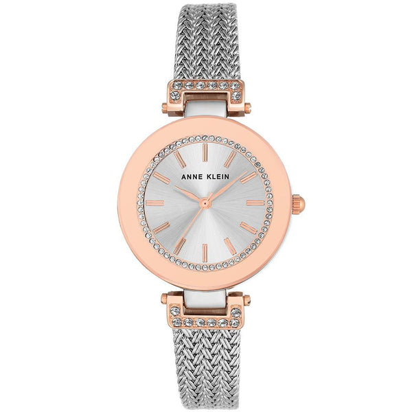 Anne Klein Rose Gold Mesh Ladies Watch - AK1907SVRT