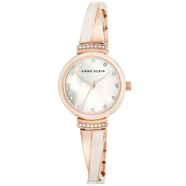 Anne Klein Swarovski Cystal Accents Pink Bangle Ladies Watch - AK2216BLRG
