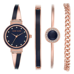 Anne Klein Rose Gold Bracelet Set Ladies Watch - AK2216NRST