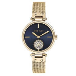 Anne Klein Swarovski Crystal Accents Mesh Ladies Watch - AK3000NVGB