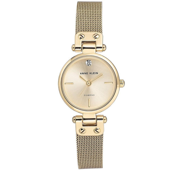 Anne Klein Gold Mesh Ladies Watch - AK3002CHGB