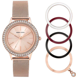 Anne Klein Dress Rose Gold Mesh Ladies Watch - AK3166INST