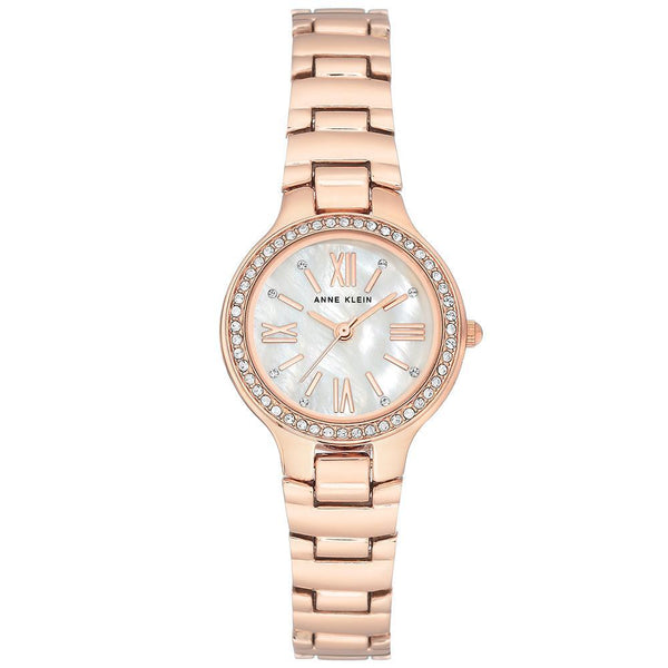 Anne Klein Swarovski Crystal Accents Rose Gold Ladies Watch - AK3194MPRG