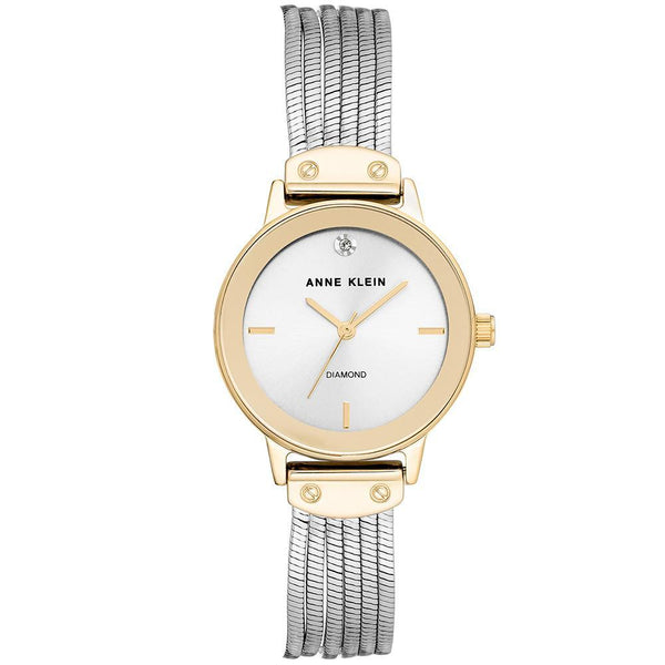 Anne Klein Diamond Accent Bracelet Ladies Watch - AK3221SVTT