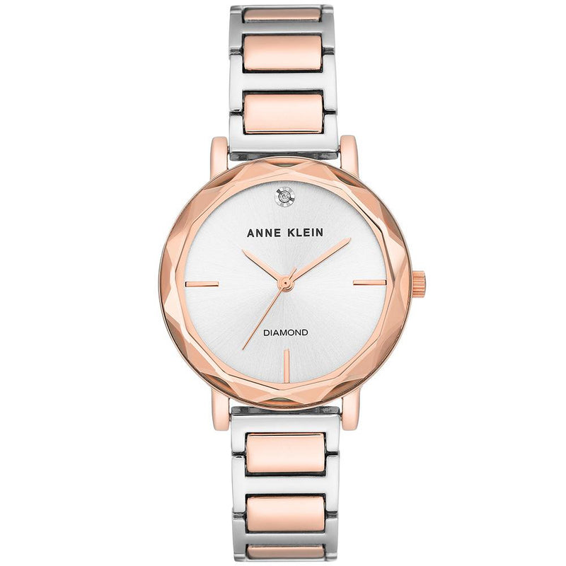 Anne Klein Diamond Rose Gold Ladies Watch - AK3279SVRT