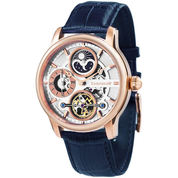 Earnshaw Longitude Hemisphere Sun & Moon Automatic Men's Watch - ES-8087-03