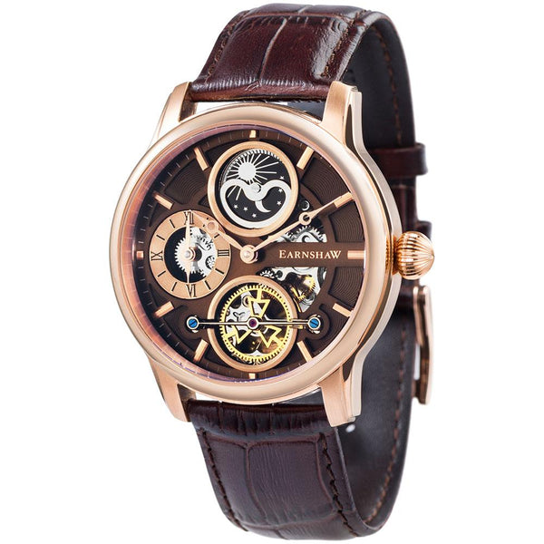 Earnshaw Longitude Hemisphere Sun & Moon Automatic Men's Watch - ES-8087-04