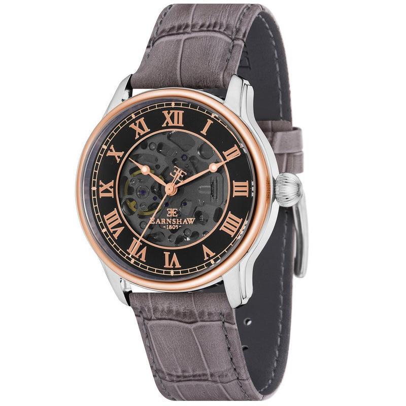 Earnshaw Longitude Automatic Leather Men's Watch - ES-8807-04