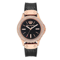 Juicy Couture Rose Gold with Swarovski Crystals Ladies Watch - JC1008RGBK