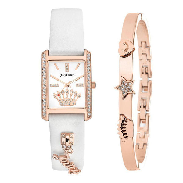 Juicy Couture Ladies Rose Gold Watch & Bracelet with Charms - JC1030RGST