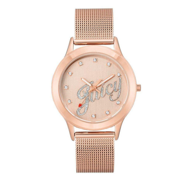 Juicy Couture Rose Gold Mesh Ladies Watch - JC1032RGRG