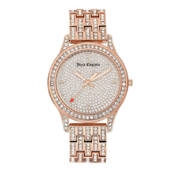 Juicy Couture Rose Gold Steel with Swarovski Crytals Ladies Watch - JC1044PVRG