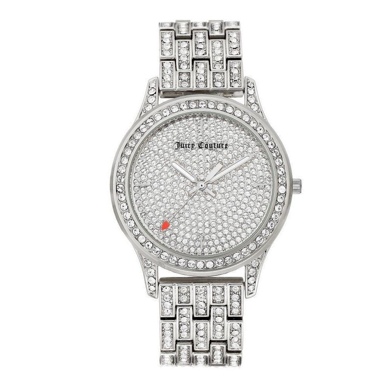 Juicy Couture Silver Steel with Swarovski Crytals Ladies Watch - JC1045PVSV