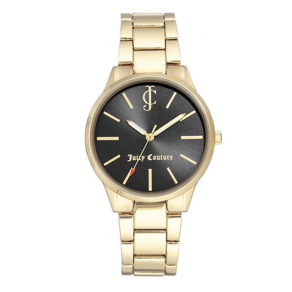 Juicy Couture Gold Steel Ladies Watch - JC1058BKGB