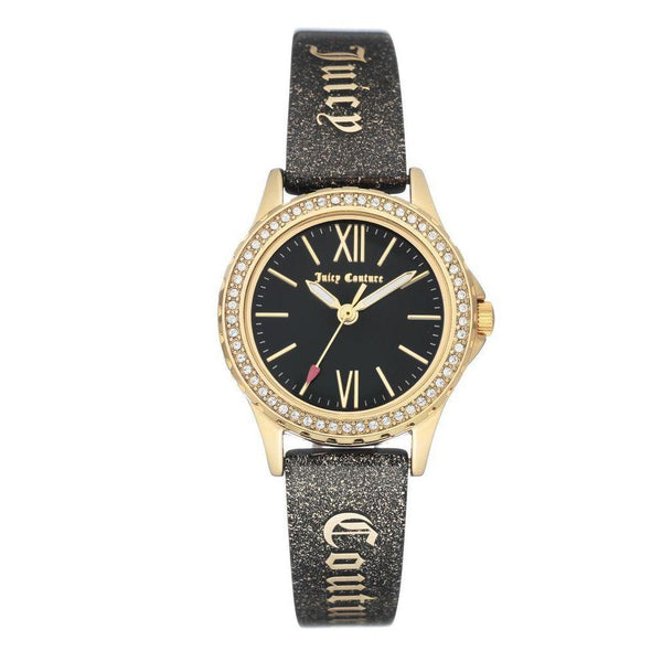 Juicy Couture Gold Steel with Swarovski Crytals Ladies Watch - JC1068BKBK