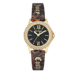 Juicy Couture Gold Steel with Swarovski Crytals Ladies Watch - JC1068BKBN