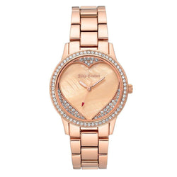 Juicy Couture Rose Gold Steel with Swarovski Crytals Ladies Watch - JC1100BMRG