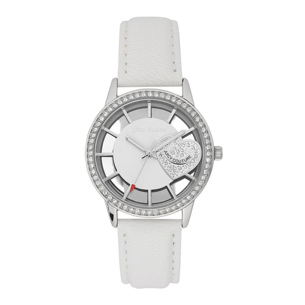 Juicy Couture White Leather with Swarovski Crystals Ladies Watch - JC1133WTWT