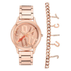 Juicy Couture Ladies Silver Watch & Bracelet with Charms - JC1146RGST