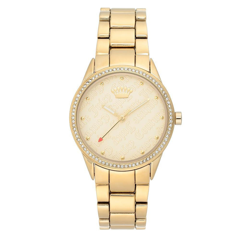 Juicy Couture Gold Steel with Swarovski Crystals Ladies Watch - JC1174CHGB