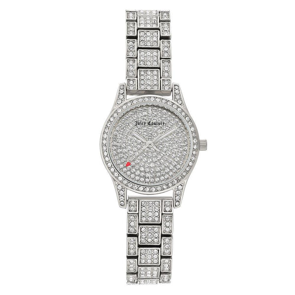 Juicy Couture Silver Steel with Swarovski Crystals Ladies Watch - JC1181PVSV