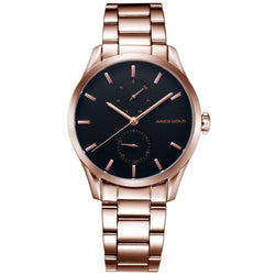 Aries Gold Liberty Rose Gold Stainless Steel Women's Watch - L 5031 RG-BKRG