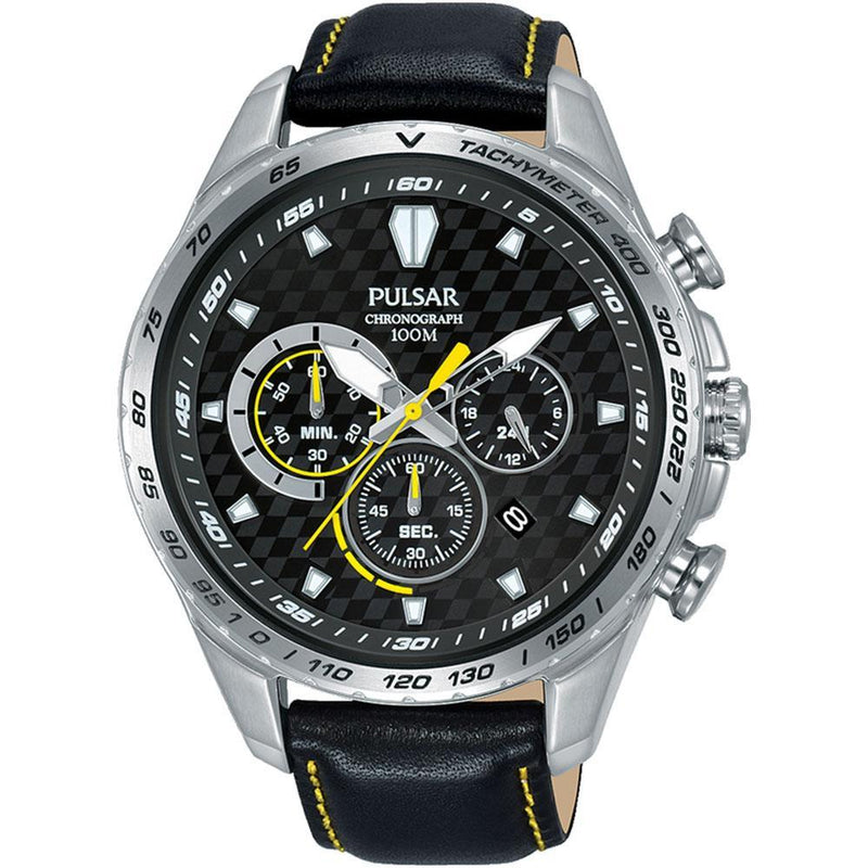 Pulsar Supercars Leather Men's Watch -  PT3981X
