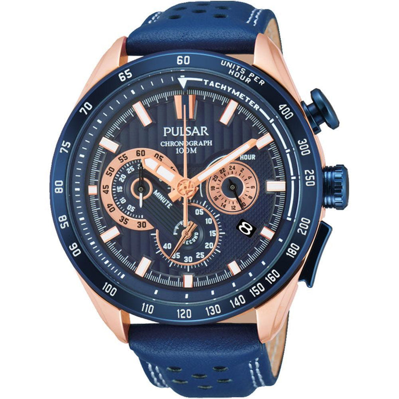 Pulsar Supercars Leather Men's Watch -  PU2080X