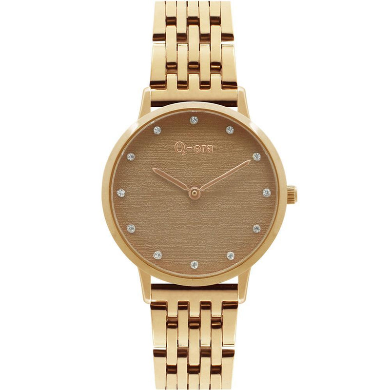 Q-Era Rose Gold  Steel Women's  Watch - QV2801-44
